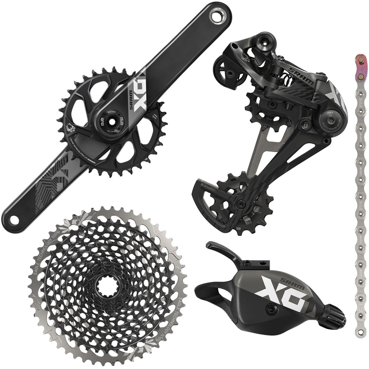 SRAM SRAM X01 12sp Eagle DUB Groupset   Groupsets