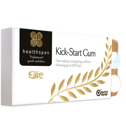 Healthspan Elite Kick-Start Caffeine Gum (120 Pieces)