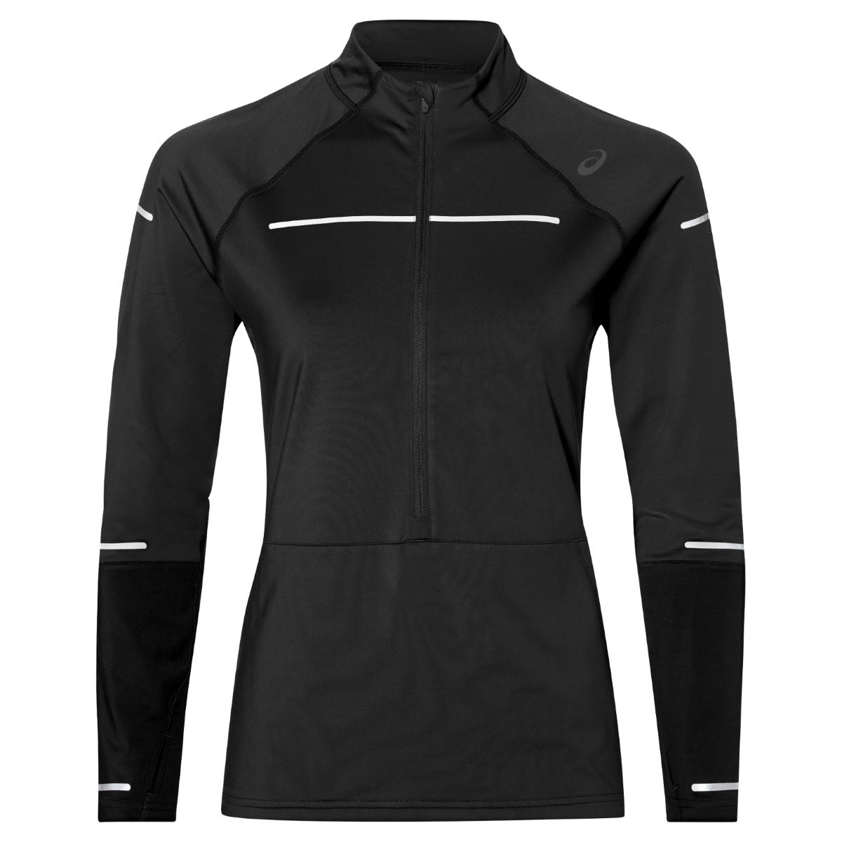 Asics Women's Lite-Show Winter LS 1/2 Zip Top - Camisetas de manga larga para running