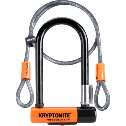 Kryptonite Evolution Mini 7 Lock and 4 Foot Kryptoflex Cable