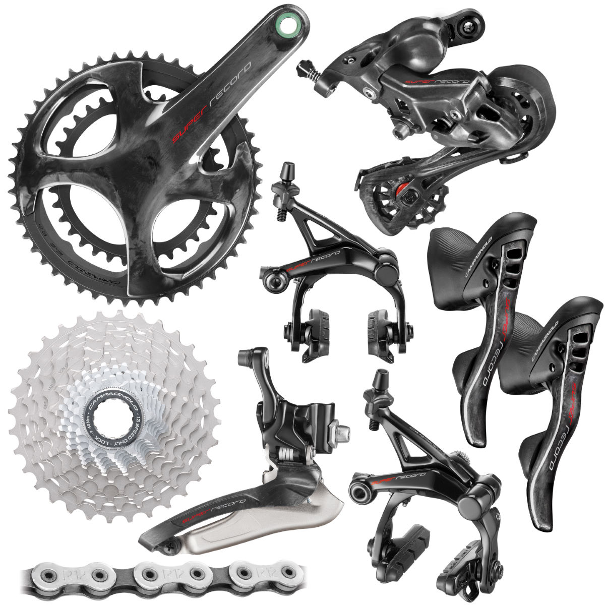 Campagnolo Super Record Groupset (12 Speed) - 172.5mm 34/50-11/32t