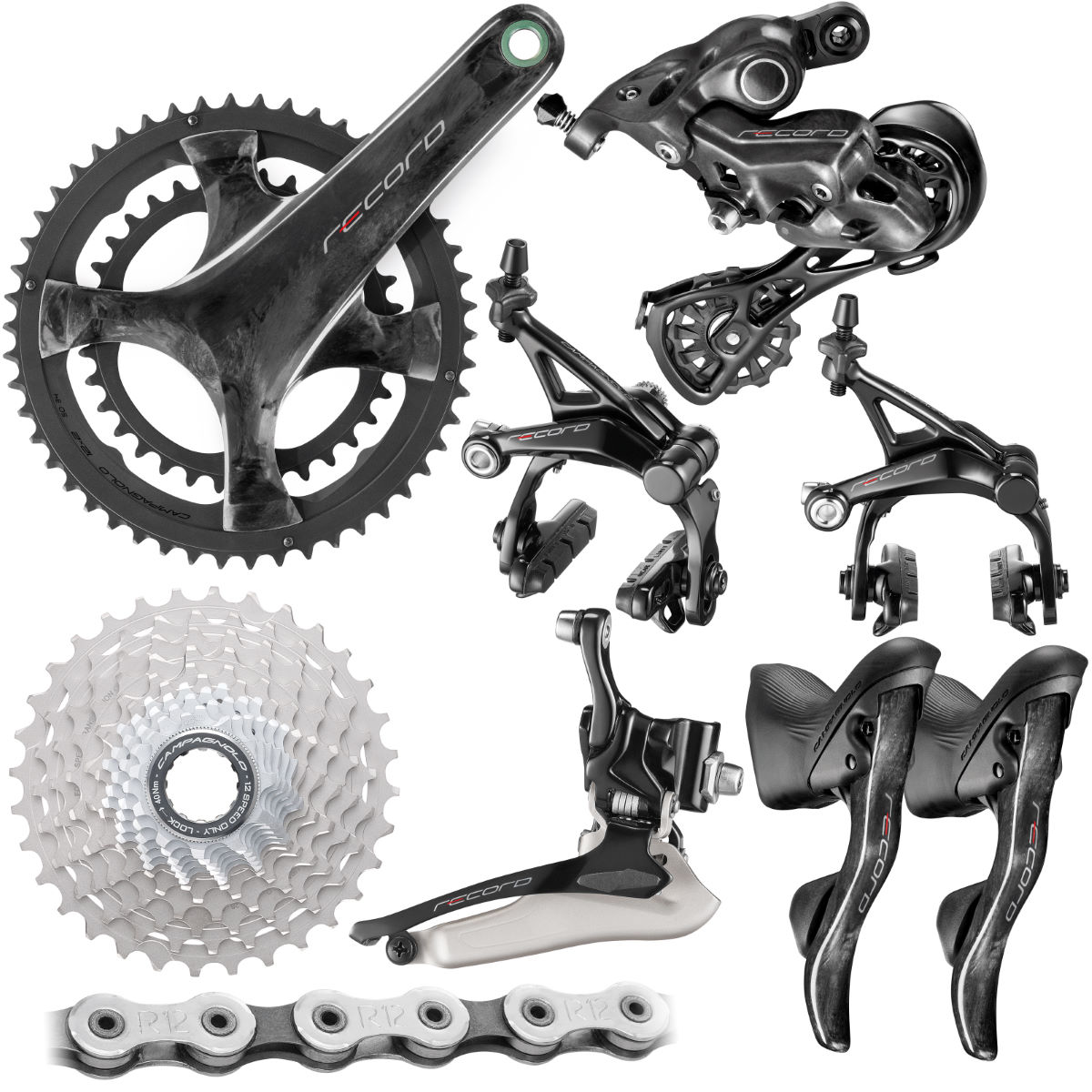 Campagnolo Record Groupset (12 Speed) - 175mm 34/50-11/32t 1 Black