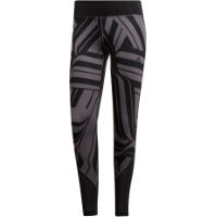 adidas Womens D2M Regular Rise AOP Tight