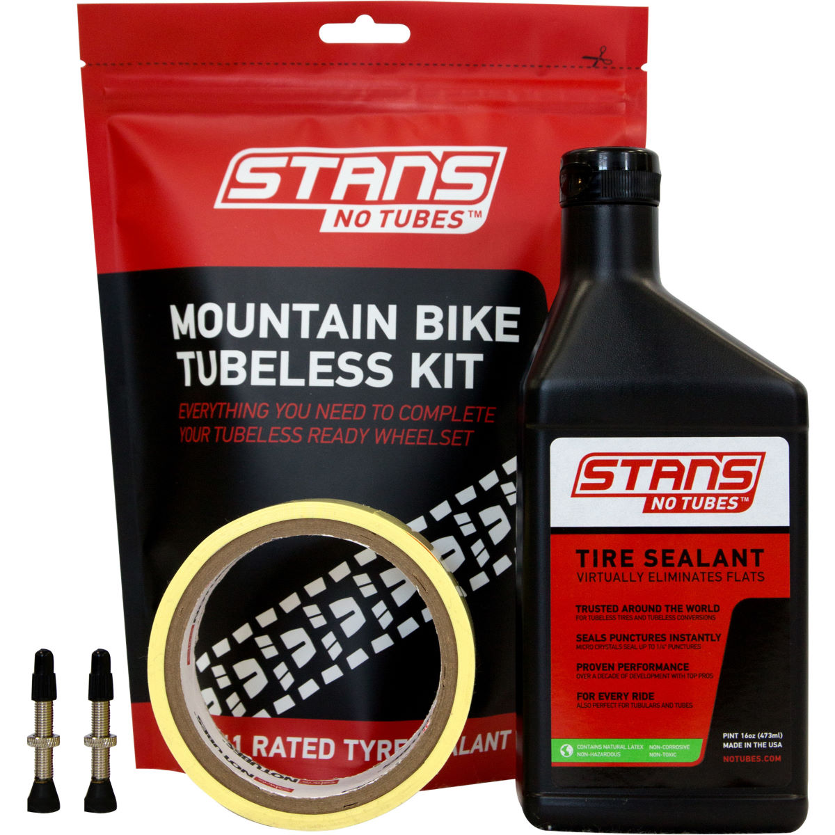 Stans No Tubes Mtb Tubeless Tyre Kit - 27mm Presta 44mm  Tyre Spares