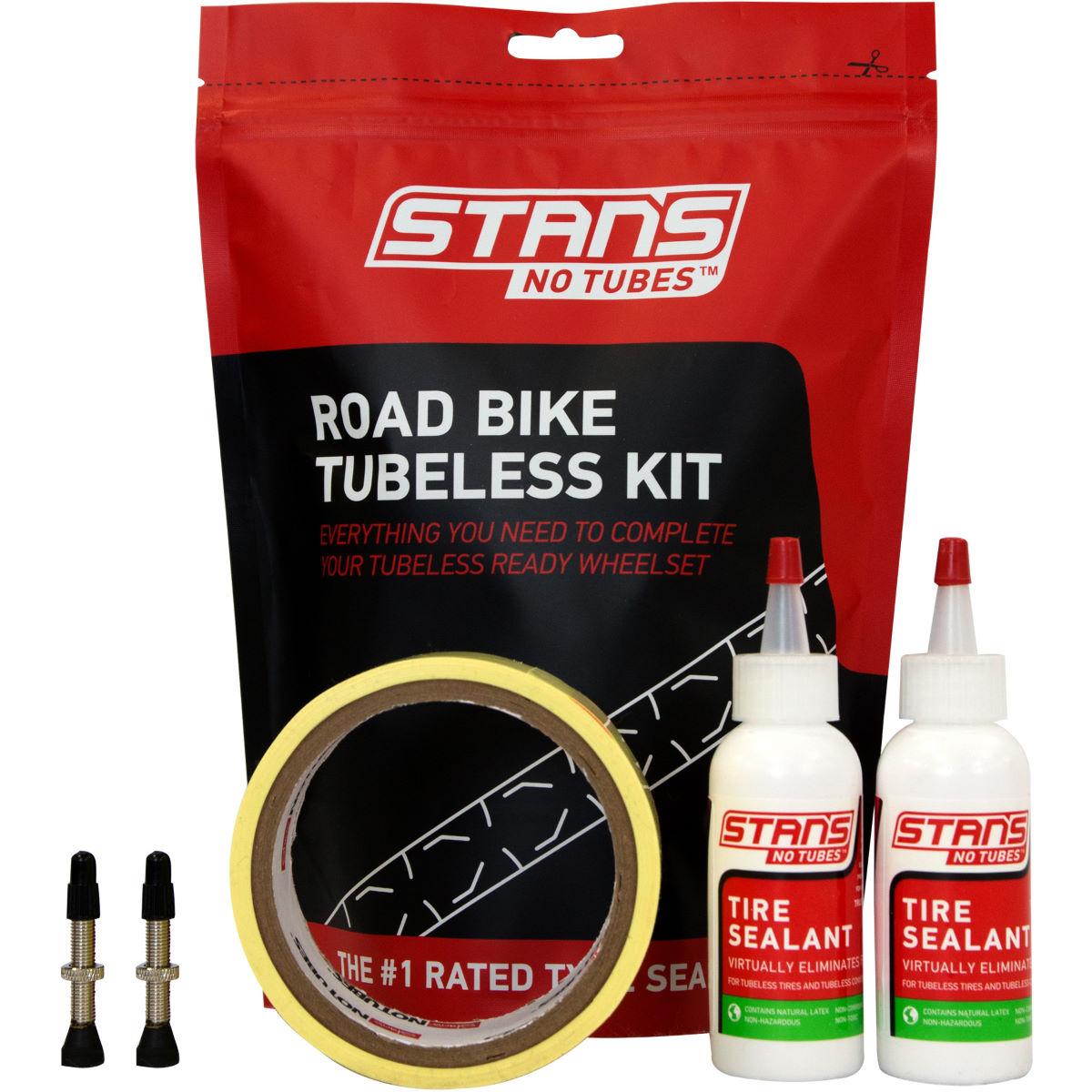 Stans No Tubes Road Tubeless Tyre Kit - 25mm Presta 55mm  Tyre Spares