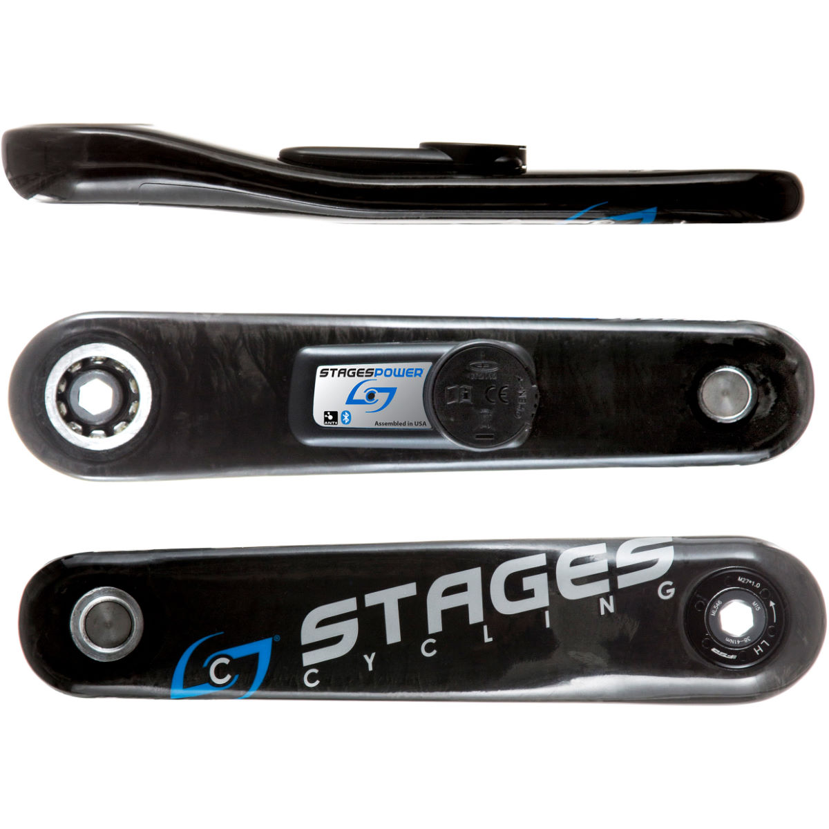 Stages Cycling Power G3 L - Stages Carbon Gxp Mtb - 175mm Black