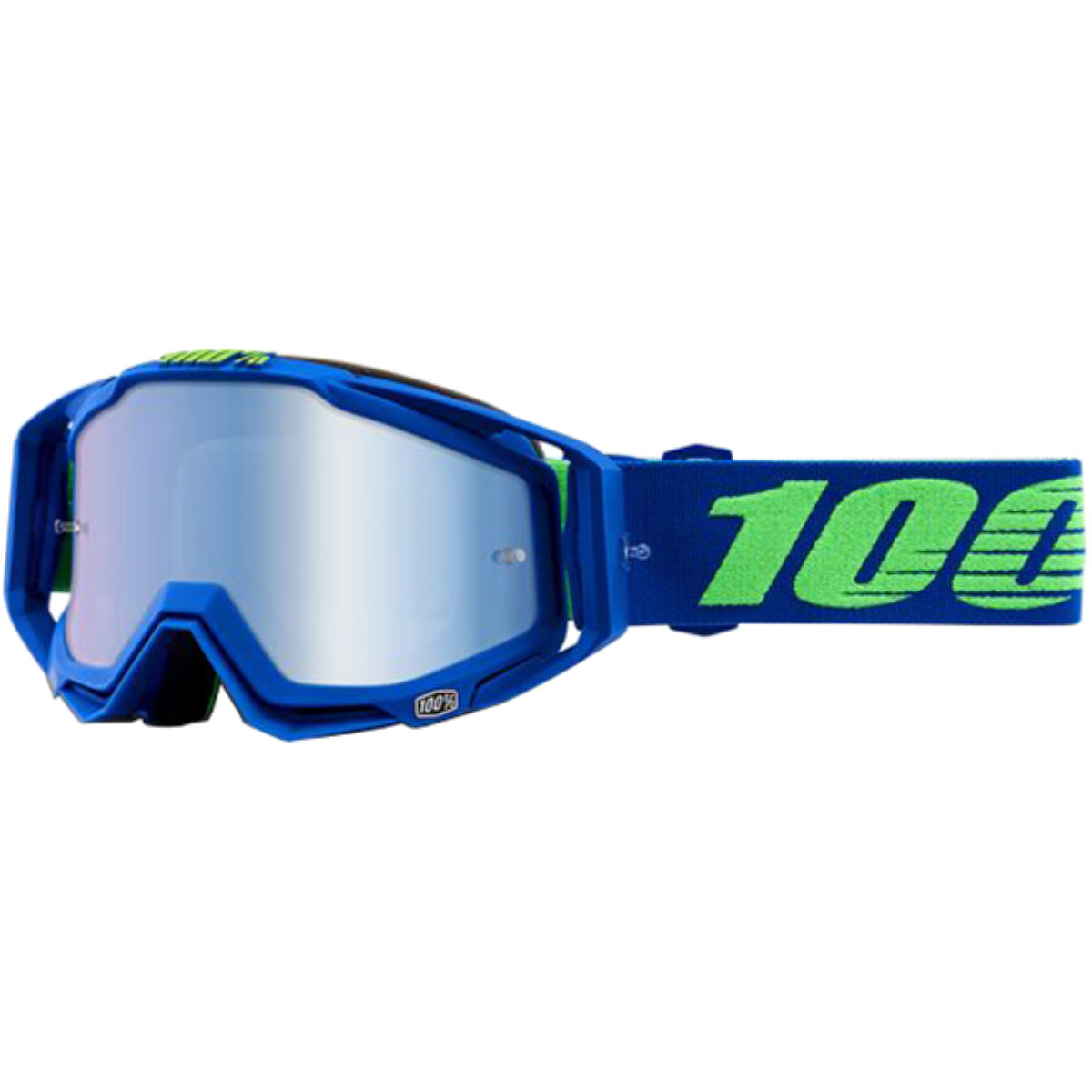 100% Racecraft Goggles - Mirror Lens - One Size Blue 3