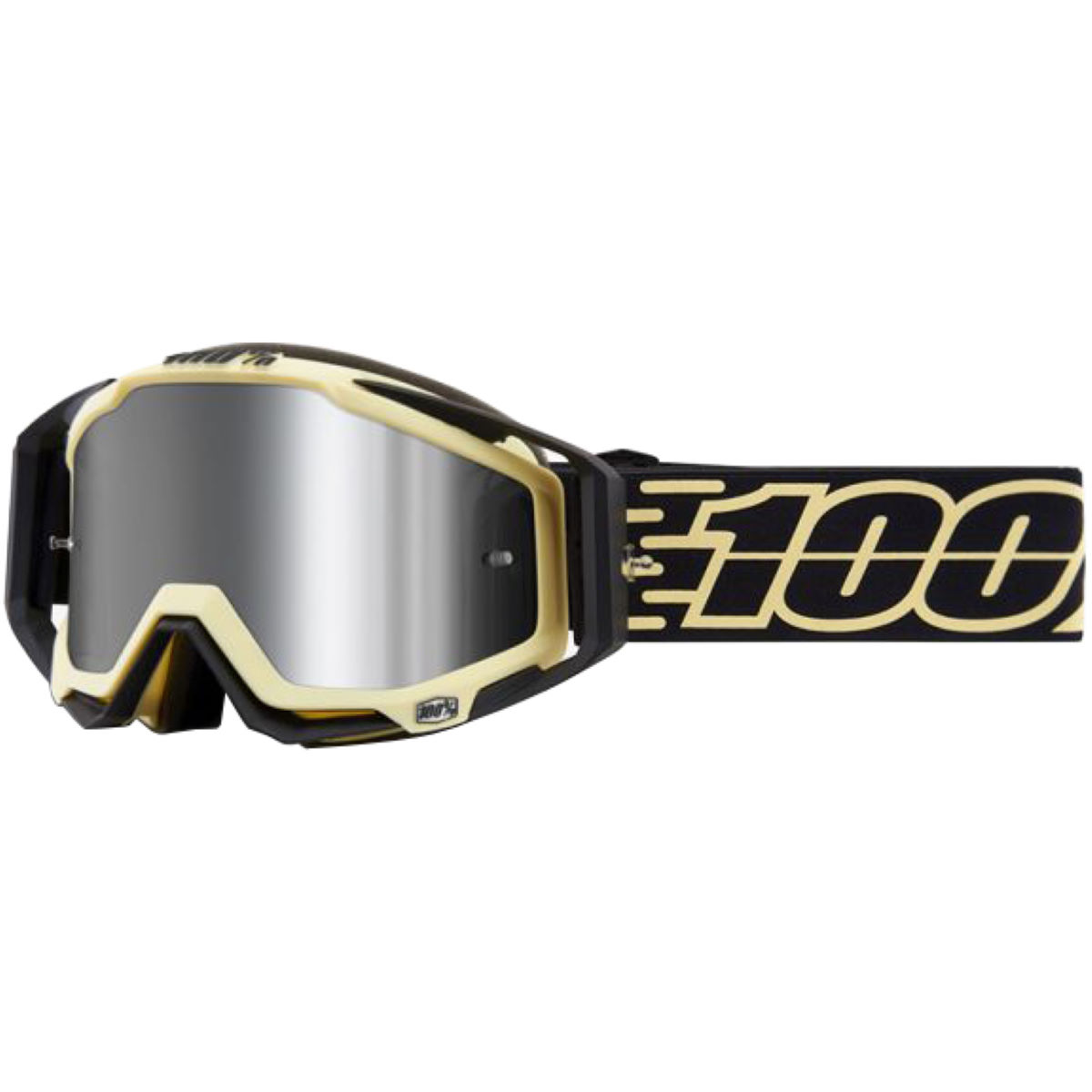 100% 100% Racecraft Plus Goggles Mirror Lens   Cycling Goggles
