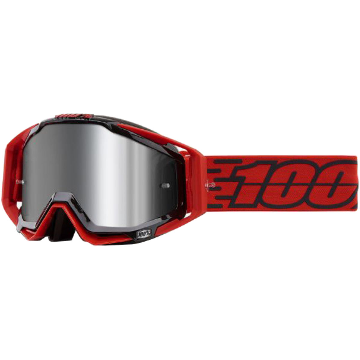 100% Racecraft Plus Goggles Mirror Lens - One Size Red