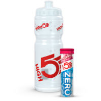 High5 Vattenflaska (750 ml + 10 st ZERO Berry-tabletter)