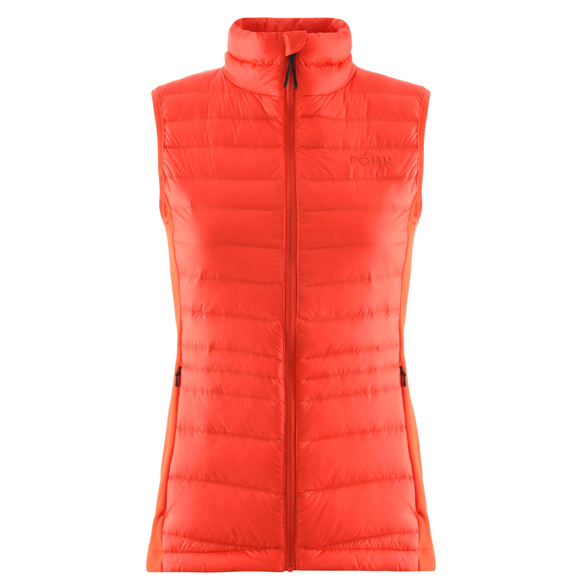 Fohn - Women's Micro Down Gilet - UK 8 Orange | Gilets sans manches
