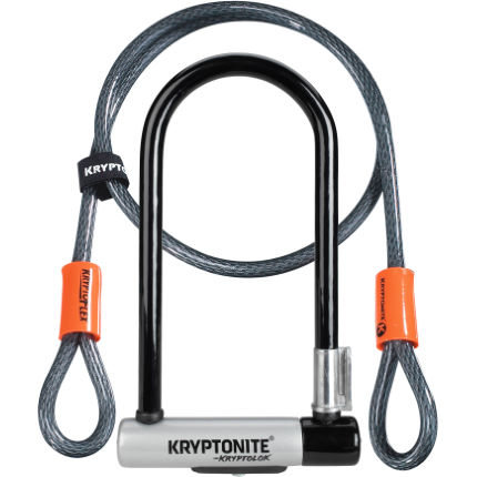 Kryptonite Standard U-Lock and Kryptoflex Cable