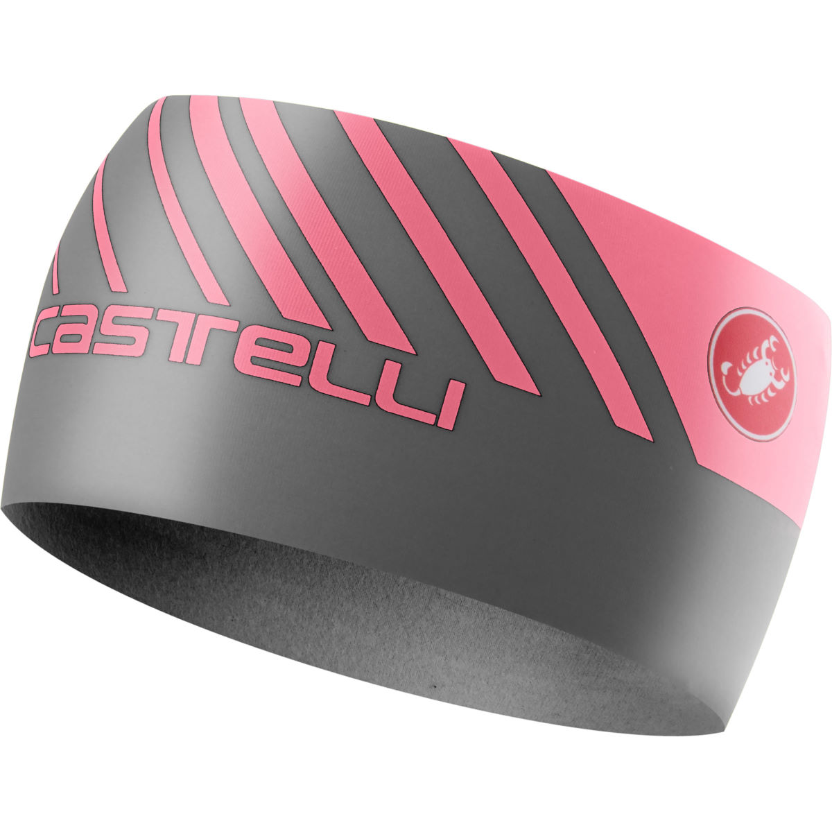Image of Bandeau Castelli Arrivo 3 (thermique) - One Size Dark Gray/Giro Pink