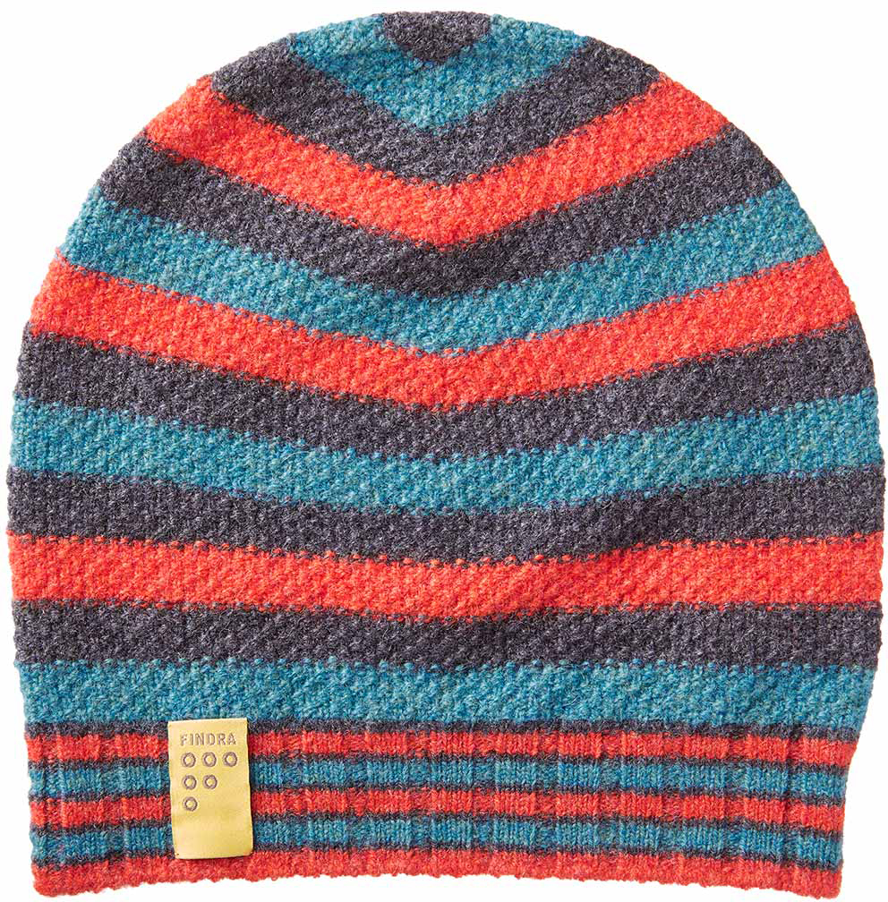 FINDRA Betty Stripe Lambswool Beanie | Headwear
