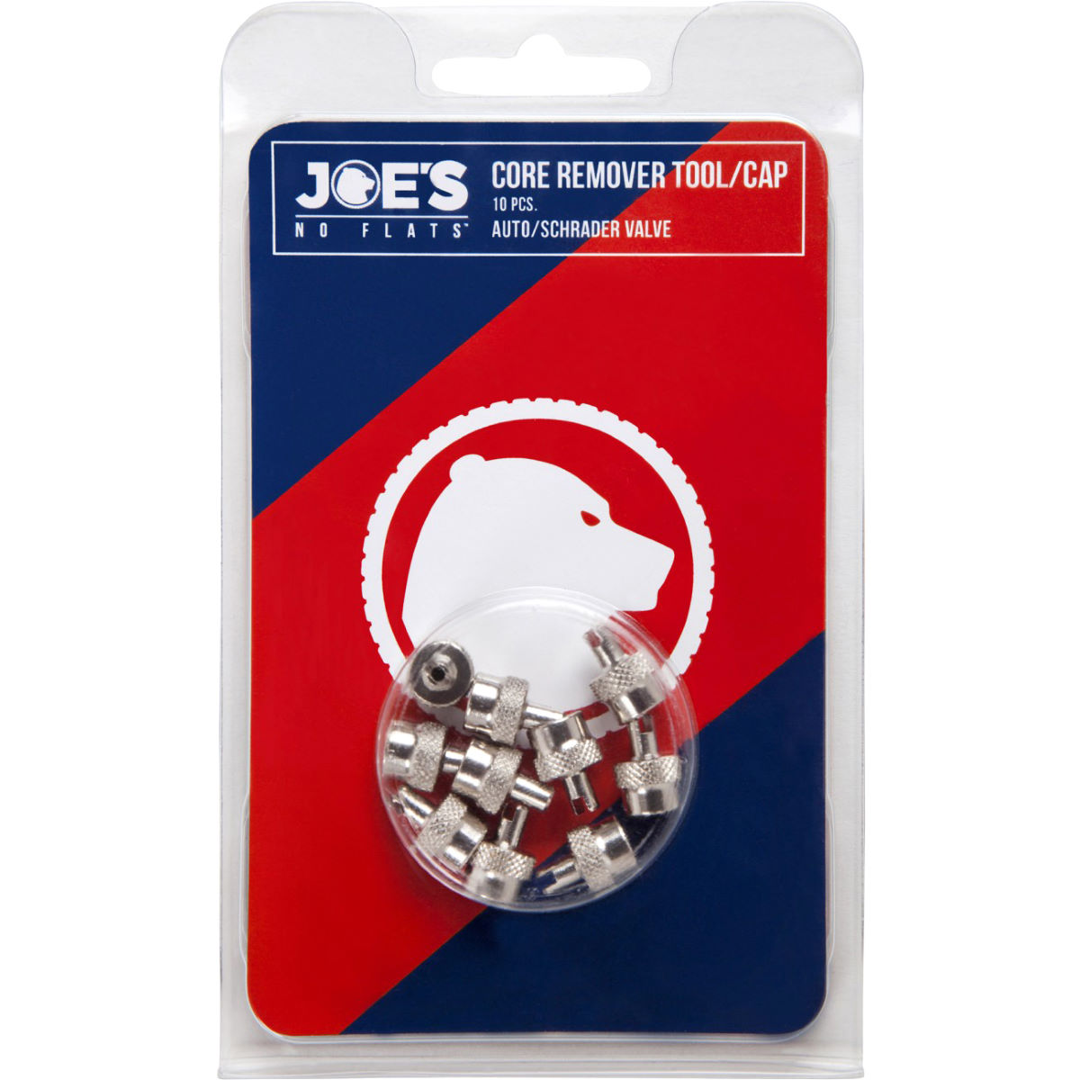 Joe's No Flats Valve Key and Cap - 10 Pack   Wheel Spares