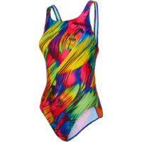 9f2c53c51c Maru Womens Brushstrokes Pacer Vee Back Swimsuit