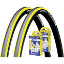 Michelin 2 Pro 4 Endurance Yellow 23c Tyres & 2 Free Tubes