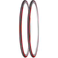 Michelin Pro 3 Race Road Tyres Red/Grey 23c - Pair