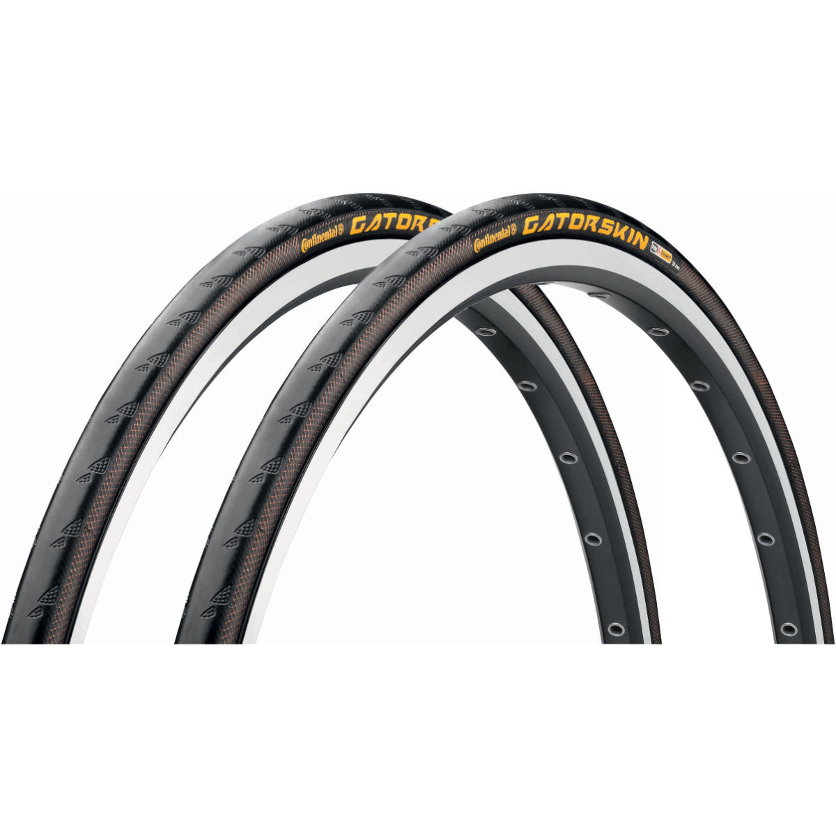 Continental Continental GatorSkin Road Wire Bead Tyres 23c - Pair   Tyres