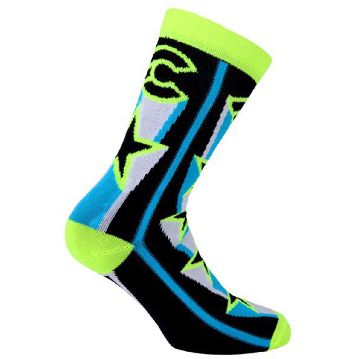 Chaussettes Cinelli Star - XS/S Yellow/Blue  Chaussettes
