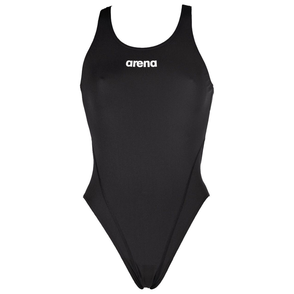 Arena Solid Swim Tech High Swimsuit - 34 Red/white