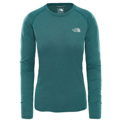 46ea79ad2c38 Wiggle | The North Face Women's Reaxion AMP L/S Crew | Long Sleeve ...