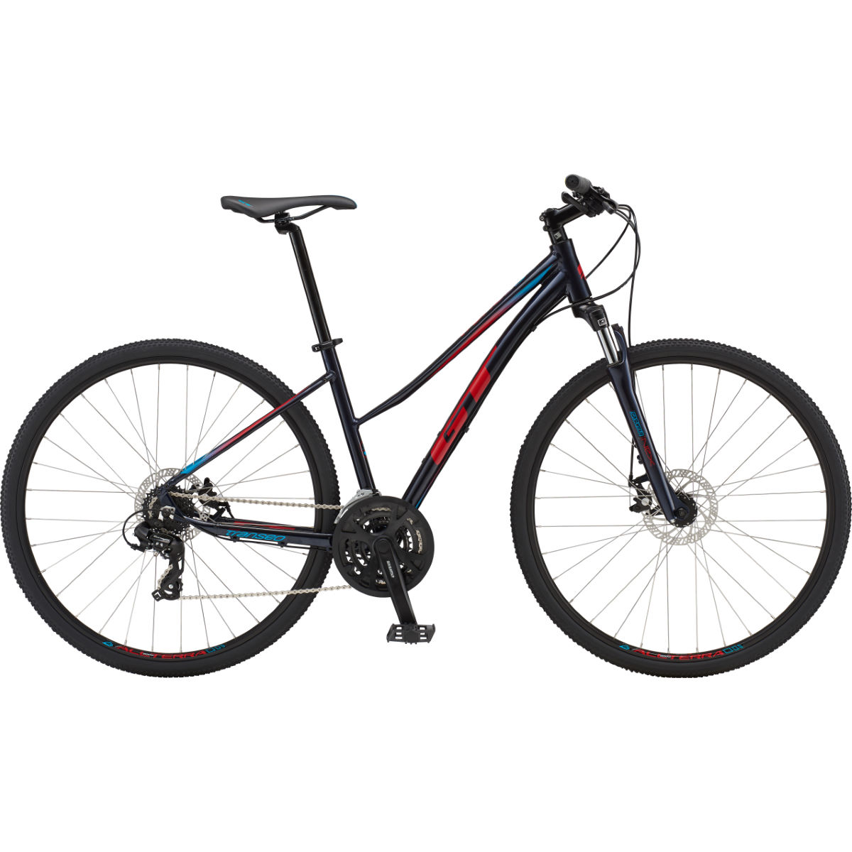 GT Transeo Comp Easy Entry (2019) Bike – Large Ink Blue | Hybrid Bikes