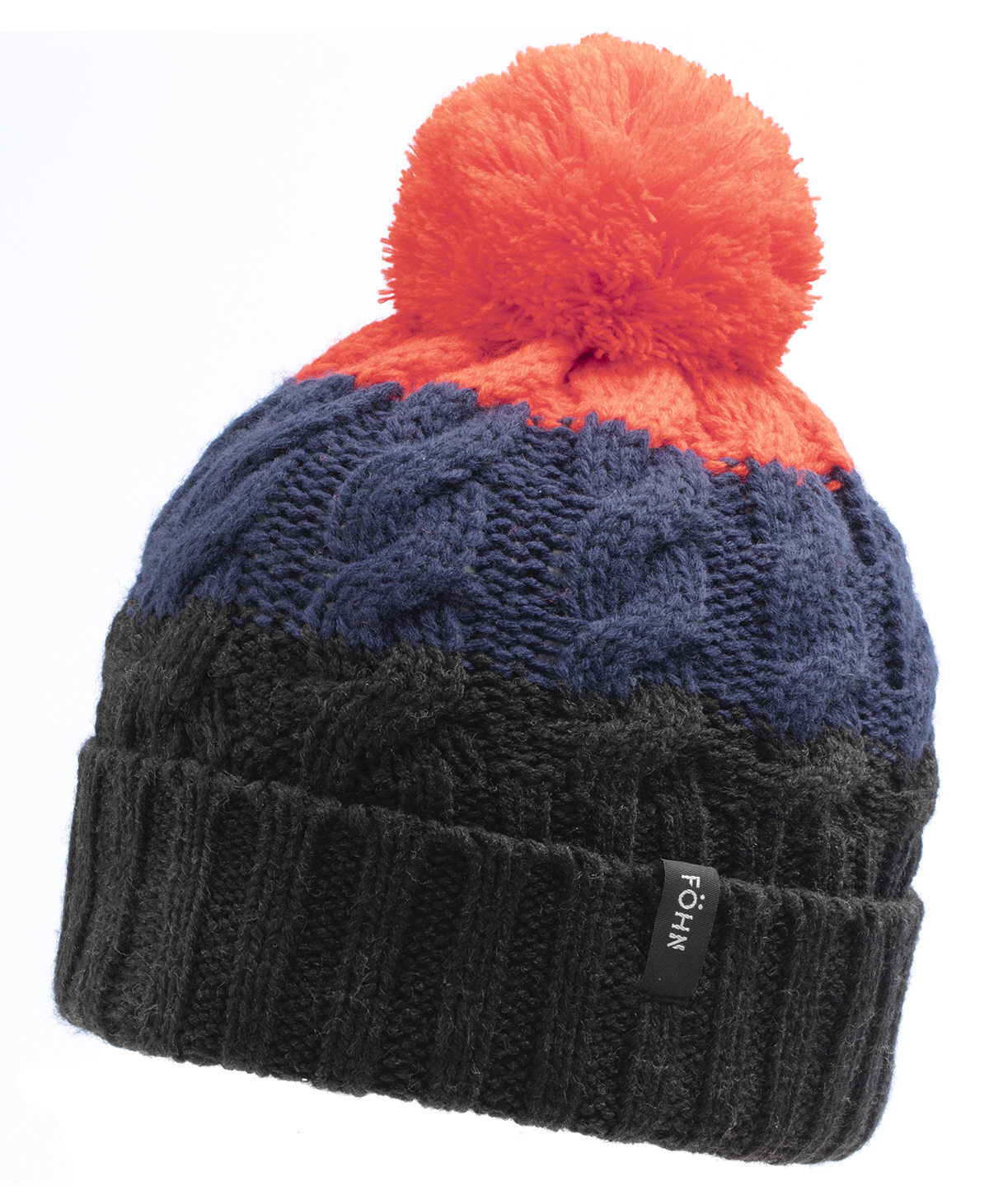 Föhn Bobble Hue (Sort/Orange) | Headwear