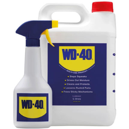 WD40 Multi-Use Bottle - 5L Inc. Spray Applicator