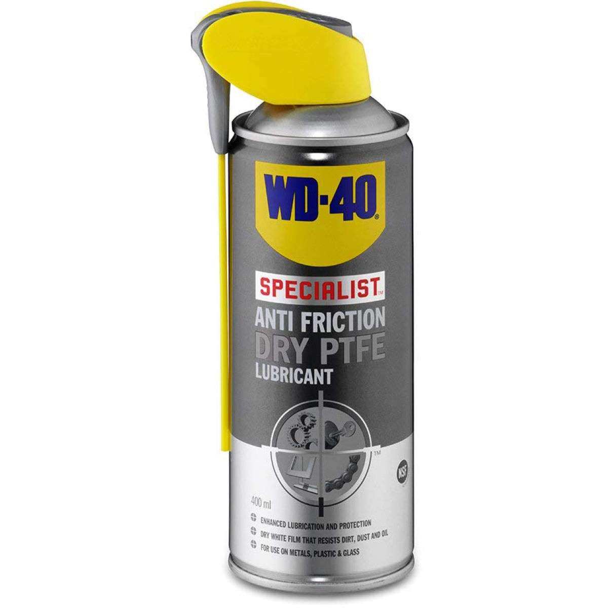 WD40 Specialist Anti Friction Dry PTFE Aerosol Lube - 4   Lube