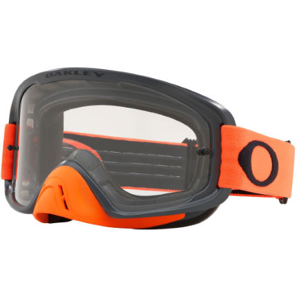 21657b832c7 View in 360° 360° Play video. 1.  . 2. Gunmetal Orange  O-FRAME 2.0 MX  Clear Lens Goggles