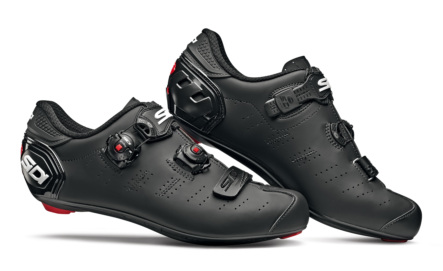 Sidi Ergo 5 Mega Matt Road Shoes (Wide Fit) | Shoes and overlays