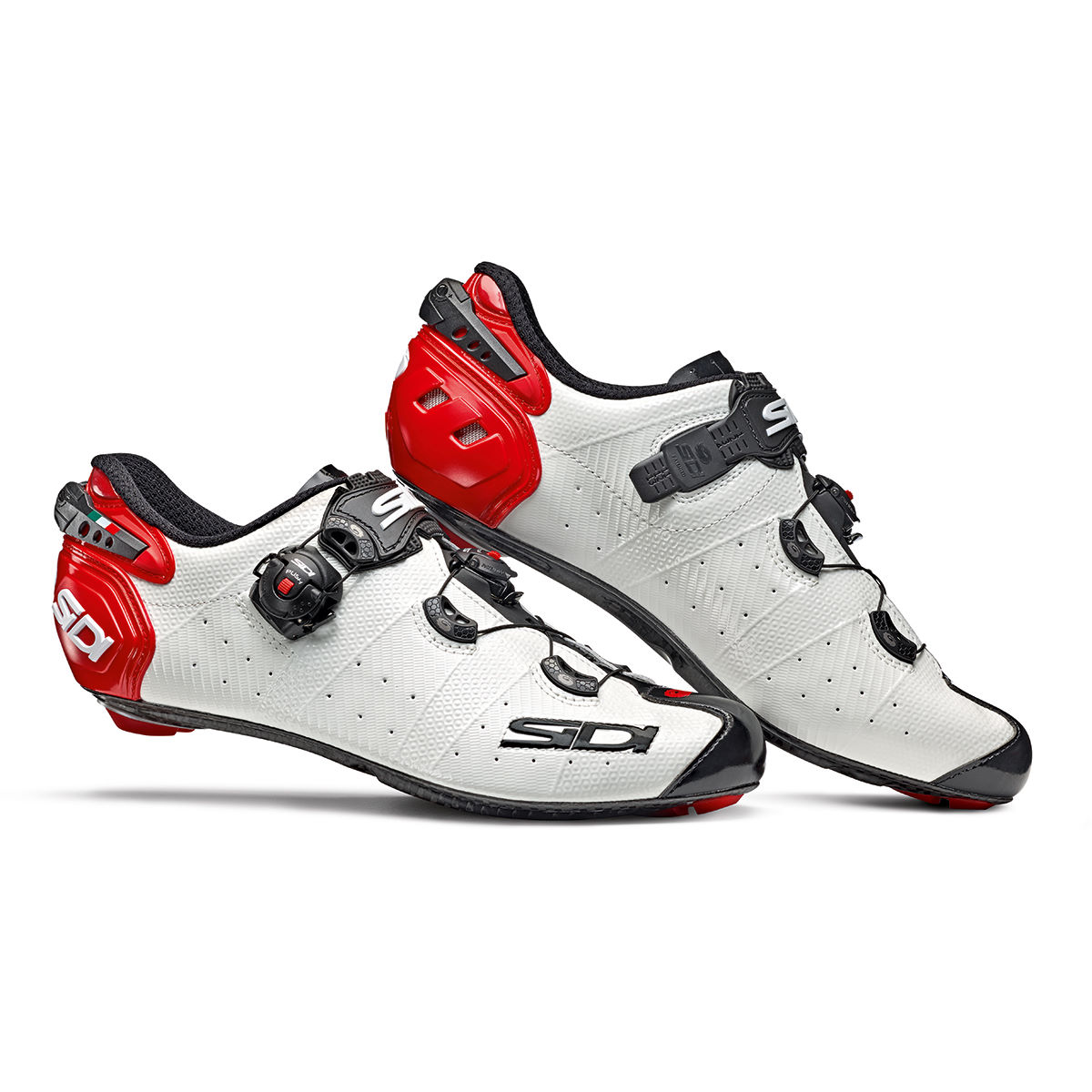 Sidi Wire 2 Carbon Road Shoes - Eu 41 White/black/red  Cycling Shoes