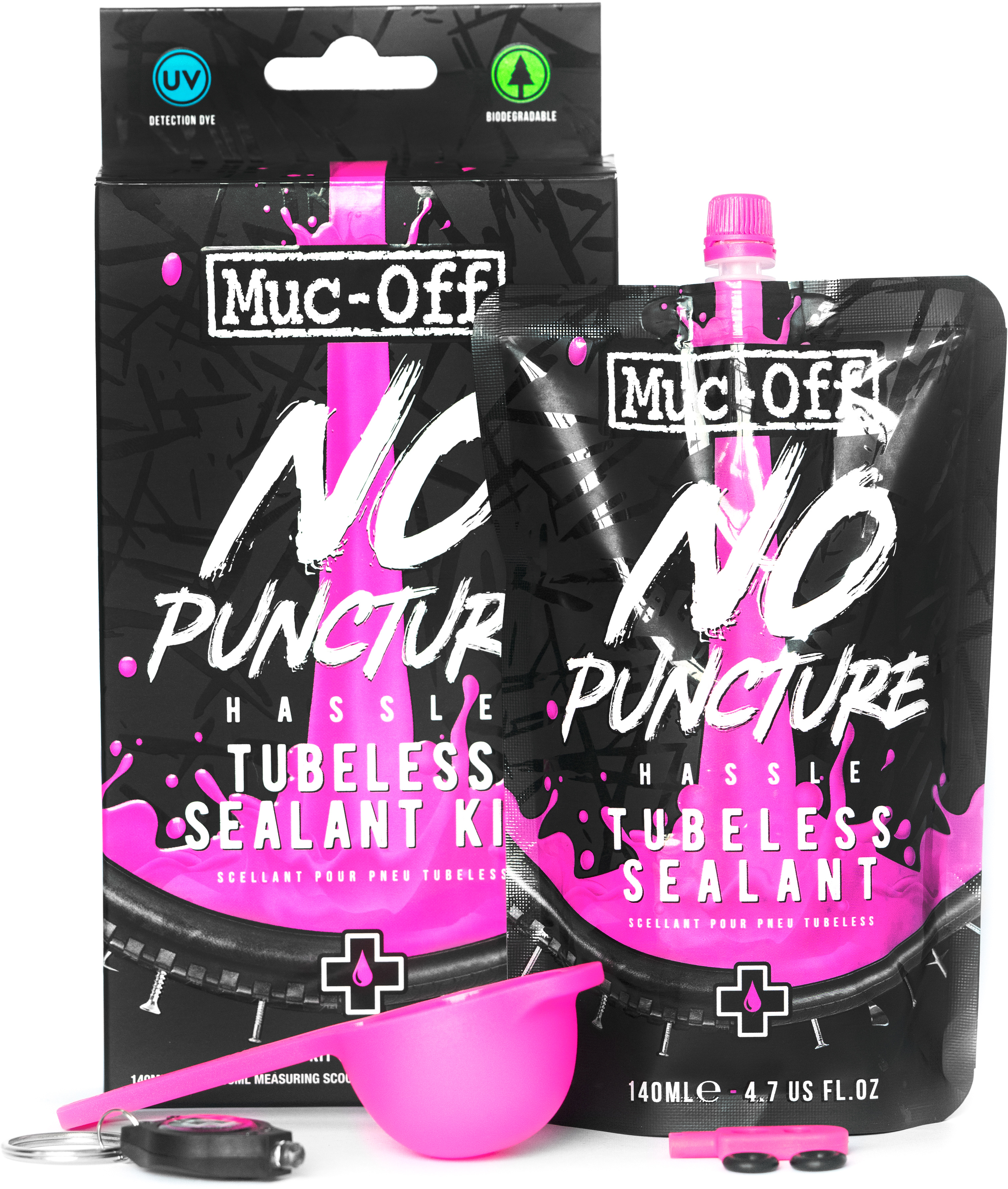 Muc-Off No Puncture Hassle 140ml Kit | Valve