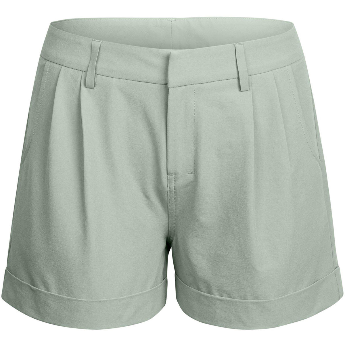 Short Femme Rapha Turn Up - M Grey/Bright Green | Shorts amples