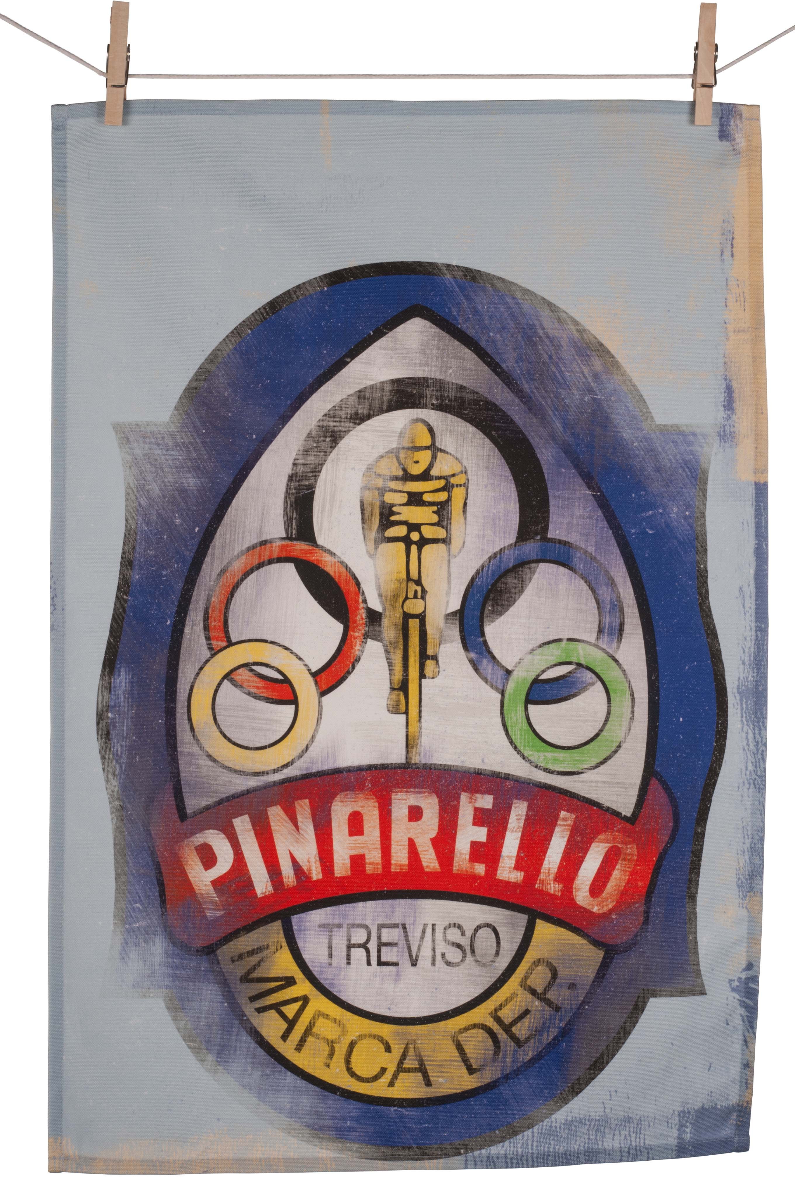 Cycling Souvenirs Pinarello Head Badge Tea Towel | Multimedier > Tilbehør