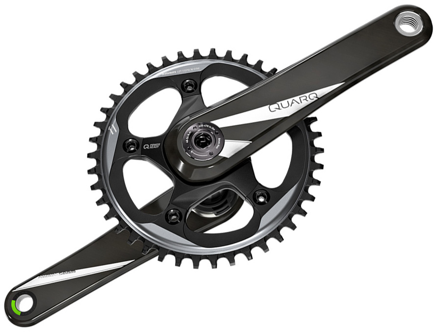 Quarq Quarq Prime Chainset CF 42t:Black:170mm | Crankset