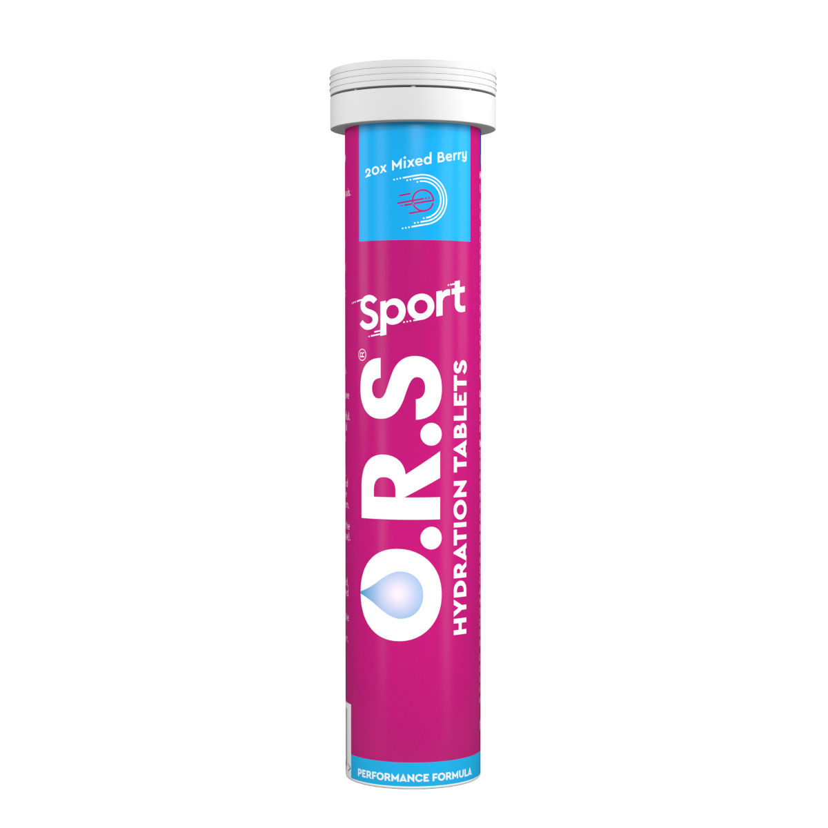 O.r.s Hydration Tabs (20 Tabs) - 21-40g Berry  Tabs