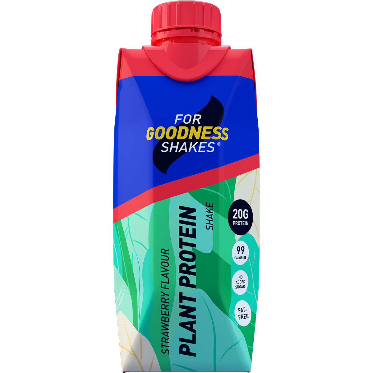 Image of Shake For Goodness Shakes Plant Protein - 330ml Strawberry
