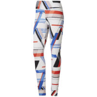 Reebok Womens One Series Lux Bold Print Gym Tight