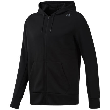 Reebok Workout Mel Double Pocket Full Zip Hoodie