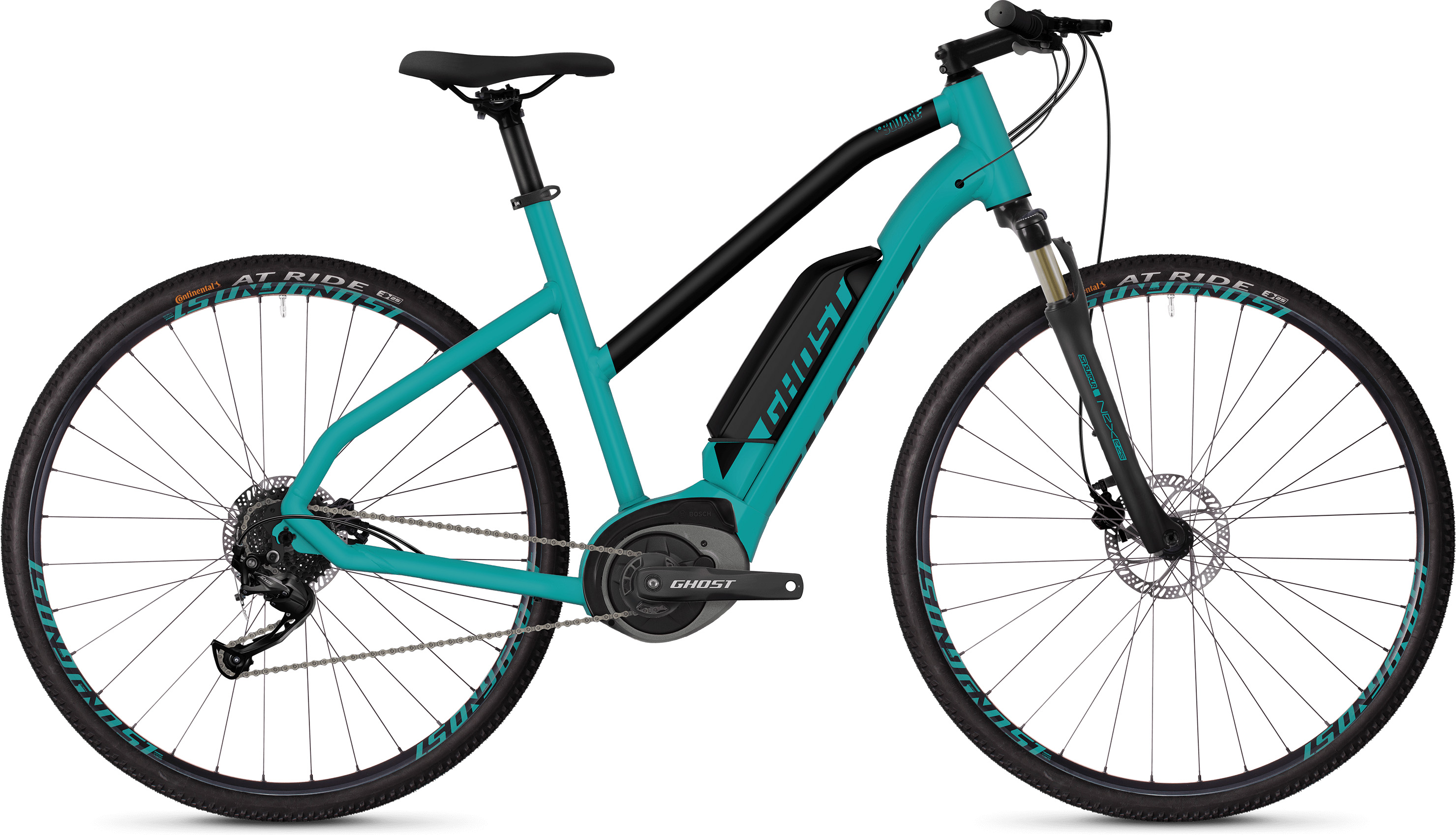 Ghost Square Cross B1.8 Women's E-Bike (2019) | City-cykler
