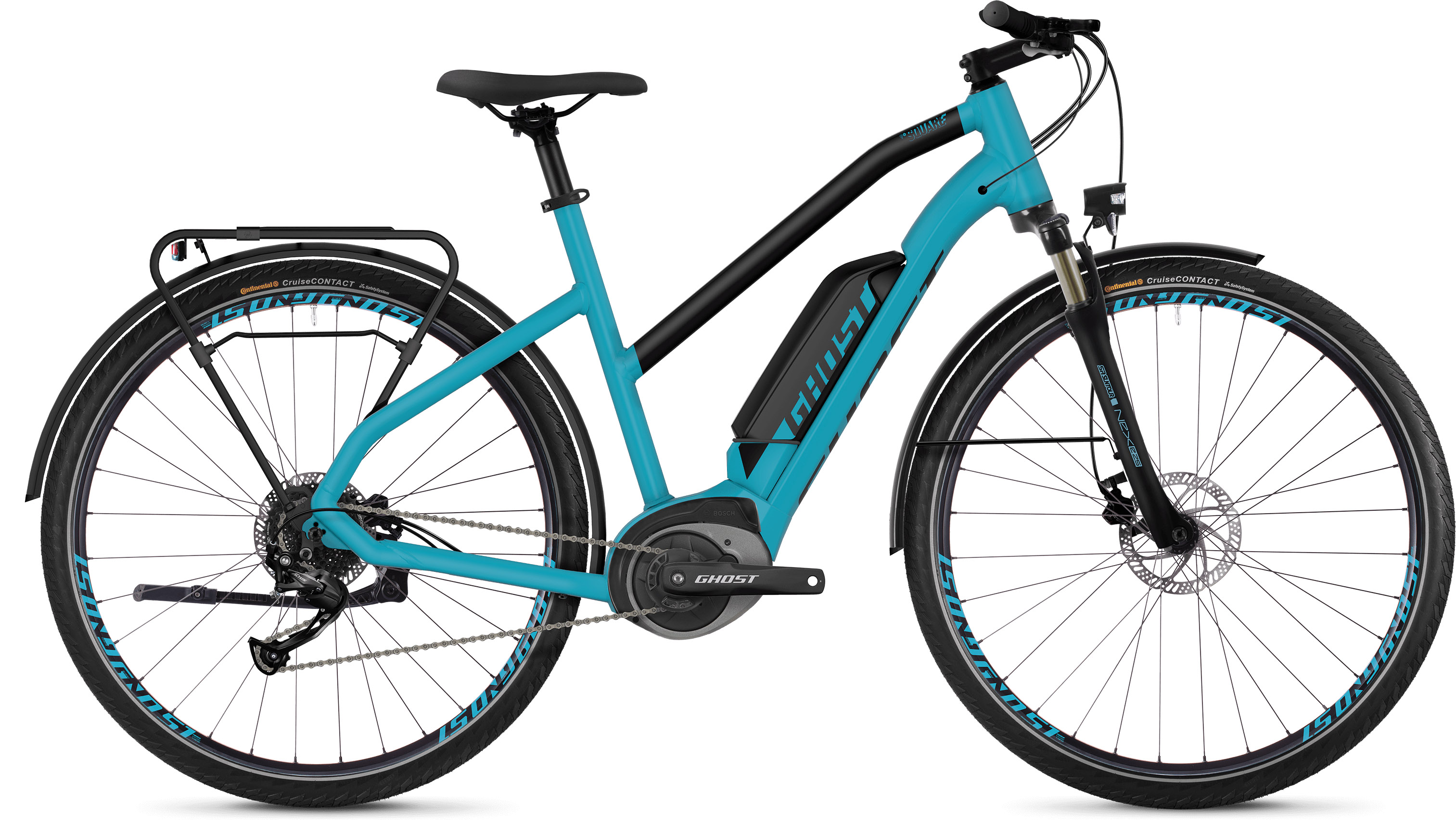 Ghost Square Trekking B1.8 Women's E-Bike (2019) | City-cykler