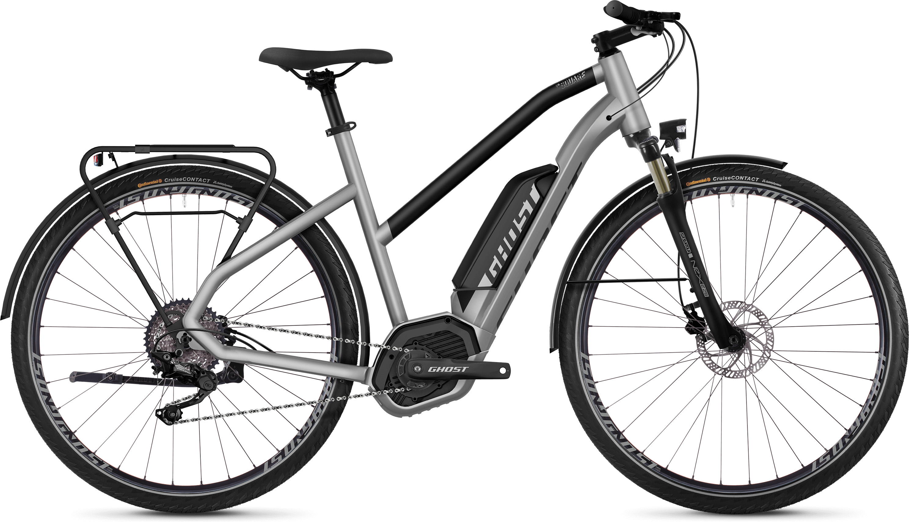 Ghost Square Trekking B2.8 Women's E-Bike (2019) | City-cykler