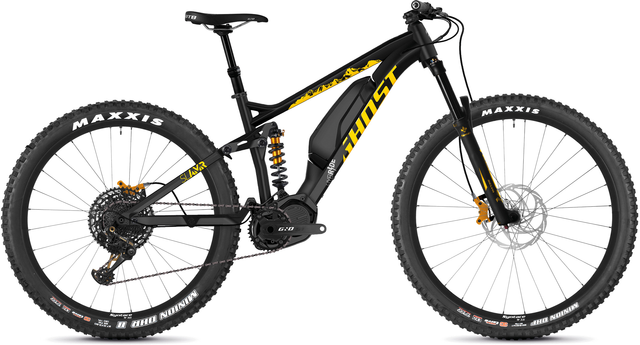 Ghost Slamr S3.7+ Full Suspension E-Bike (2019) | City-cykler