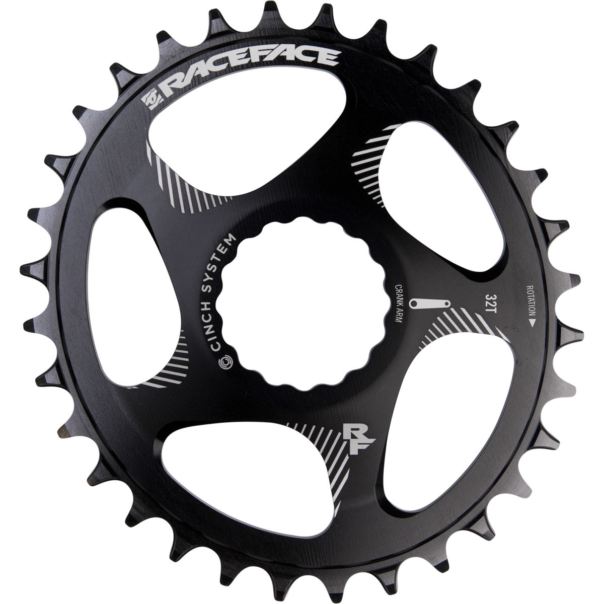 Race Face Direct Mount Oval Chainring - 28t Black  Chain Rings