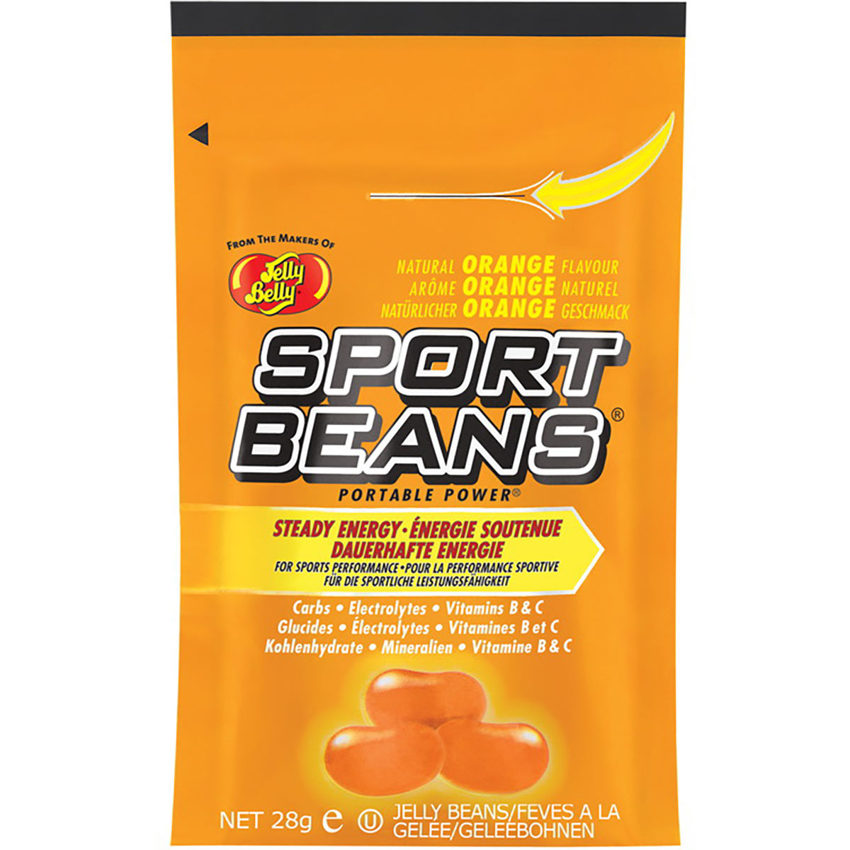 Image of Bonbons Jelly Belly Sports (24 x 28 g) - 24g 41504 - 21-30 Orange