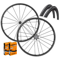 Fulcrum Racing Zero Nite Clincher Wheels GP4000s II Bundle