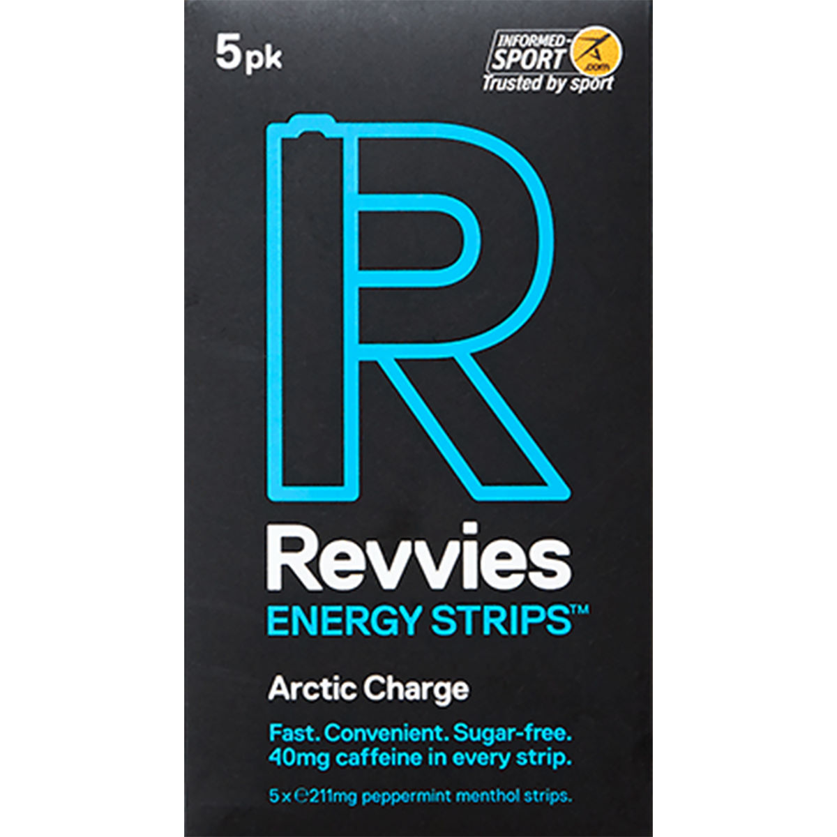 Revvies Revvies Energy Strips (6 x 5 Pack)   Caffeine Tablets