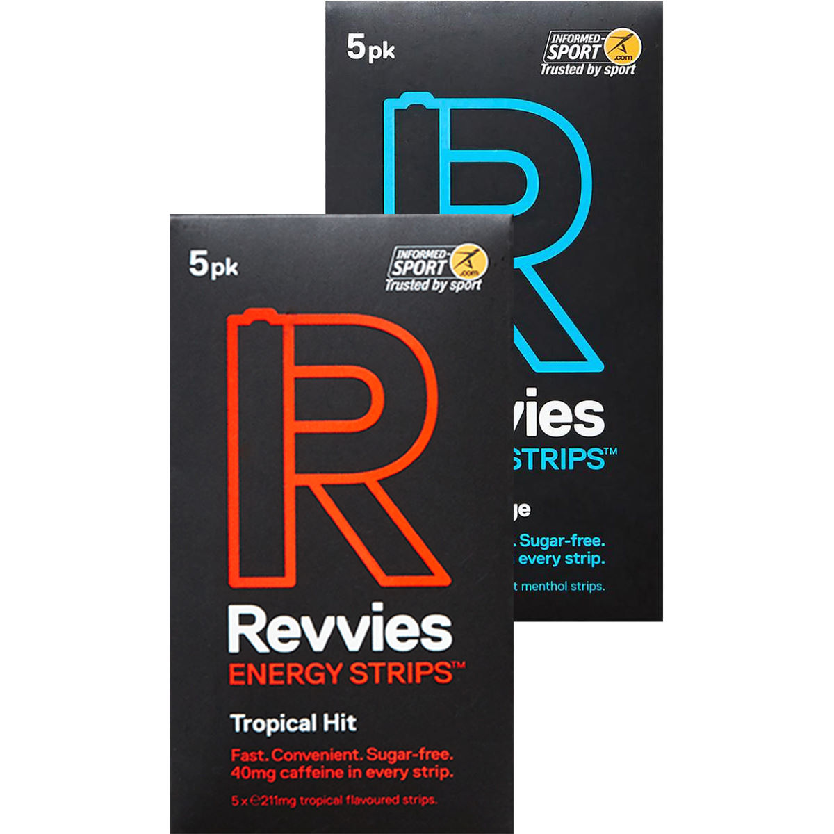 Revvies Revvies Energy Strips Sampler ( 6 x 5PK)   Caffeine Tablets